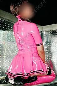 Mm Couture Size Chart 569 Latex Rubber Gummi Uniform Dress Skirt Peterpan Collar Customized Cute 0 4mm Ebay