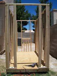 air conditioning dog house. wall framing completed air conditioning dog house