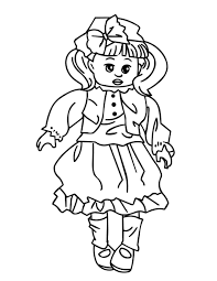 Printable American Girl Doll Coloring Pages For Kids Classic Style