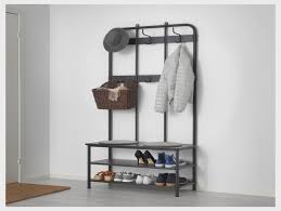 pinnig coat rack with shoe storage bench black 193 cm ikea