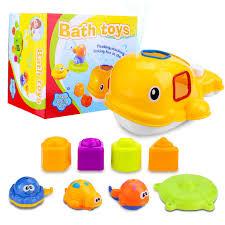 toy chois baby bath toys educational whale bathtub toys set for children toddlers kids boys girls