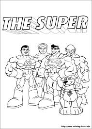 super friends coloring pages