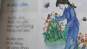 Tiếng Việt lớp 1 - Học thuộc lòng bài thơ