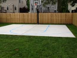 backyard ideas basketball court. adjacent houses look down on johnu0027s new basketball court with envy backyard ideas a
