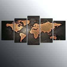 canvas print for living room world map wall art canvas painting no frame for factory world map metal wall art