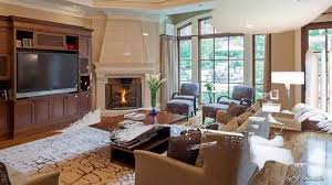 gorgeous living room designs with corner fireplace