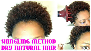 Dry Curls Hair Style no wash define & go on short natural hair shingling on dry 7831 by wearticles.com