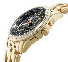 gold citizen watch activity online citizen eco drive gold calibre 8700 diamond watch side view