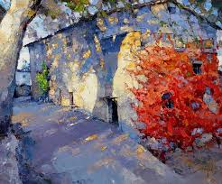 evening in normandy oil on canvas 50 x by alexi zaitsev Алексей Зайцев via arts artists artwork fb