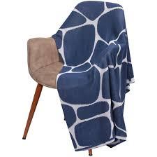 <b>Плед Giraffe</b>, <b>бежевый с</b> синим (артикул 10757.14) - Проект 111
