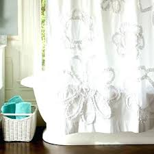 white ruffle shower curtain. Teal Ruffle Shower Curtain Floral White Home Design Ideas R