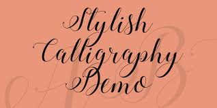 stylish calligraphy demo font 1001 fonts
