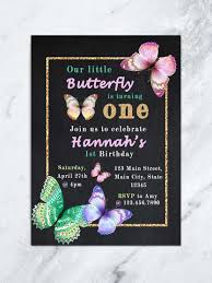 Butterfly Birthday Invitation Butterfly Party Invite Girl