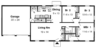 floor plan of a one story house. Contemporary Plan Simple OneStory  1153G Floor Plan Main Level To Floor Plan Of A One Story House U