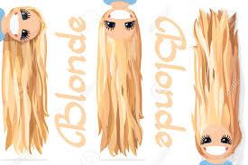 ベクターグラフィックスの女の子金髪緩やかな長いストレート髪自然