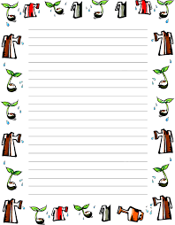 Free Printable Unlined Writing Paper With Borders Download Them Or