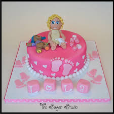 Baptism Cake For Baby Girl With Handmade Figure Follow Me Flickr