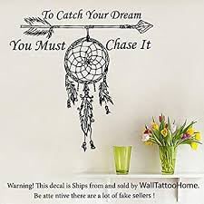 Dream Catcher With Quote New Amazon Wall Decals Quote To Catch Your Dream Vinyl Sticker