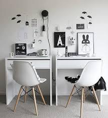 IKEA Micke Desk Setup for Two
