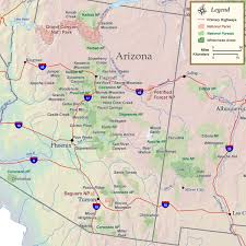 arizona national parks forests  wilderness map  rocky mountain