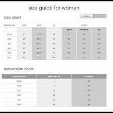 Lululemon Sizing Chart Tops Lululemon Size Guide