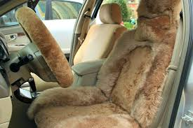 wool car seat cover sheepskin elite long light brown covers melbourne
