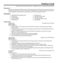Bunch Ideas of Sample Resume For Fast Food Restaurant Also Summary