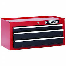 Craftsman 6 Drawer Rolling Cabinet Craftsman 26 In 3 Drawer Heavy Duty Ball Bearing Middle Chest