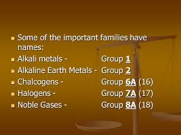 The Periodic table The periodic table is a way of keeping track of ...