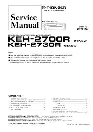 pioneer deh 6350sd crt4641 service manual pioneer