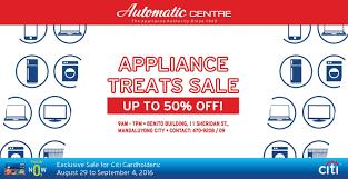 appliance warehouse center.  Warehouse Automatic Center Appliance Treats Warehouse SALE AugSept 2016 Inside