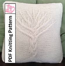 Tree Of Life Knit Pattern Tree Of Life Pillow Cover