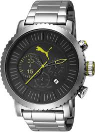 men s puma popular steel chronograph watch pu103521001