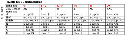 F Cup Bra Size Chart Sizing Jbc Lingerie