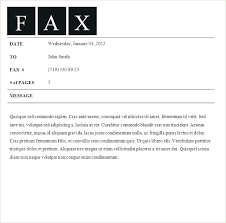 Sample Cover Letter Fax Fax Cover Letter Word Template Sample Cover Letter For Fax