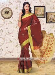 Designer Wall Sarees Resham And Zari Work Saree