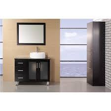 element contemporary bathroom vanity set: design element decb e malibu  inch single sink modern bathroom vanity in espresso finish