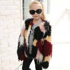 Kids Winter Faux Fur Coat Long sleeve Jacket Thick Warm Outer we Best Products on Wanelo