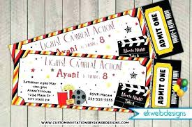 Movie Night Invitation Template Free Expand Movie Night Template Birthday Party Invitation Premium Flyer