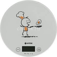 Купить <b>Весы кухонные VITEK</b> VT-8018, белый/рисунок в ...