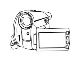 Small Picture Dslr Coloring Page SLR camera coloring page Sony camera with