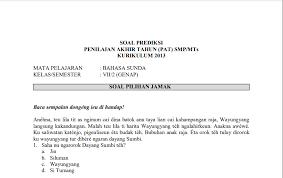 Berikut link soal uts smp/mts kelas 7 semester 2/genap, silahkan klik untuk mendownload! Download Soal Pat Bahasa Sunda Kelas 7 Kurikulum 2013 Plus Kunci Jawaban