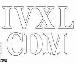Kleurplaten Romeinse Cijfers Kleurplaat
