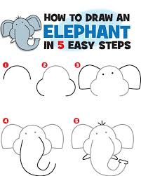 this free printable pdf to teach your clroom child how to draw an elephant in 5 easy steps kidscoop