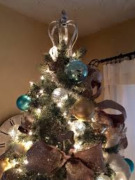 Shabby chic crown tree topper View in gallery Crown on top of Christmas tree