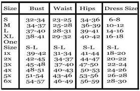 Size Chart For Plus Size Women Womens Plus Size Chart