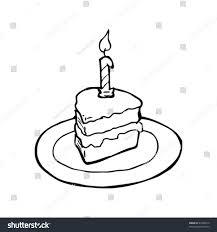 birthday cake slice drawing.  Drawing Drawing Of A Slice Birthday Cake On Birthday Cake Slice Drawing