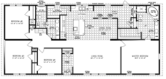 Chic Modular Home Layouts Four Bedroom Mobile Homes L 4 Bedroom Floor Plans