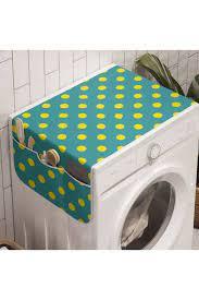 Rengirenk Retro Çamaşır Makinesi Düzenleyici Sarı Minik Puantiyeler Fiyatı,  Yorumları - TRENDYOL