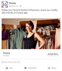 Fashion Designer Facebook App Facebook App Install Ad Examples Facebook App Install Ad